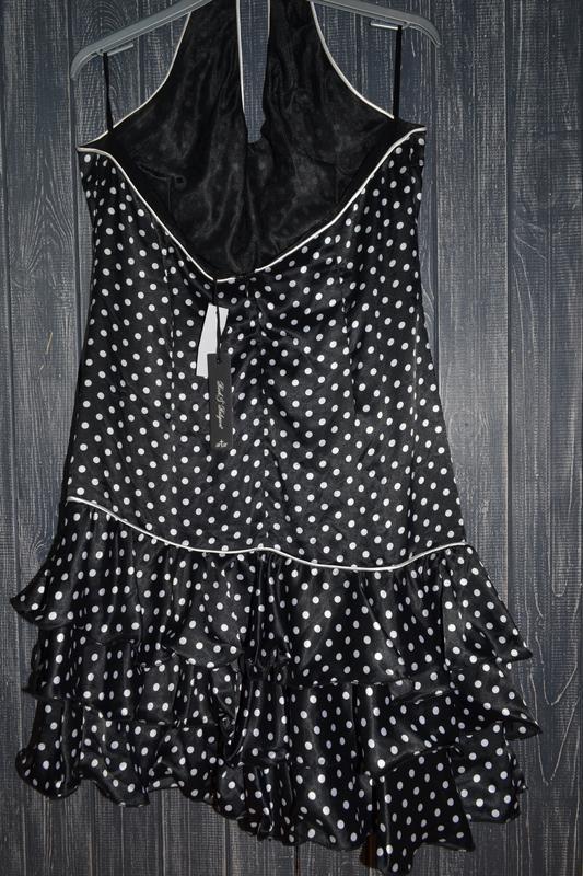 Платье в горох в стиле pin up, стиляги rock&religion размер 14uk - Фото 2