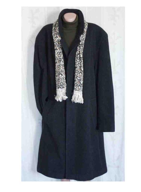 Отличное мужское пальто шерсть, утеплённое, италия
