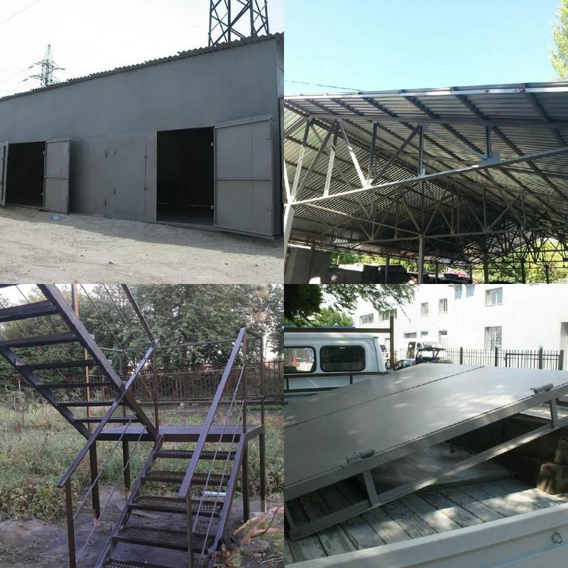 Производство Навесы ангары козырьки лестницы металлоконструкции в