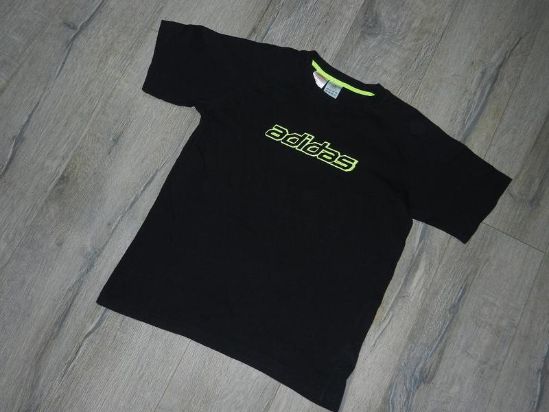Футболка adidas,оригинал!черная мужская футболка, хлопок