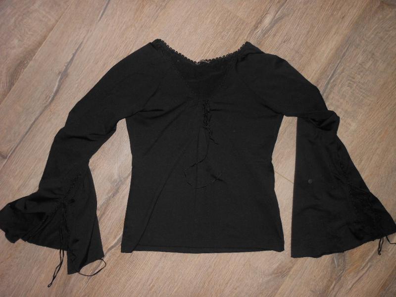 Kikiriki,турция! черная блуза на завязках