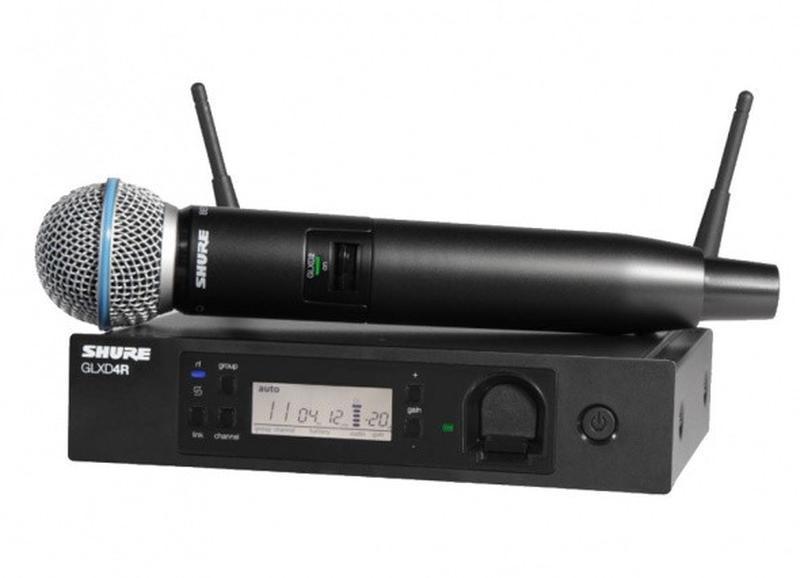 Беспроводная радиосистема GLXD24RE, с ручным микрофоном BETA58