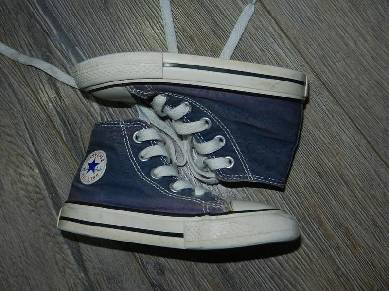 Синие детские кеды converse, оригинал, 22 размер, 13 см