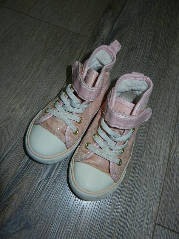 Розовые детские кеды на девочку 24 размер, 15 см