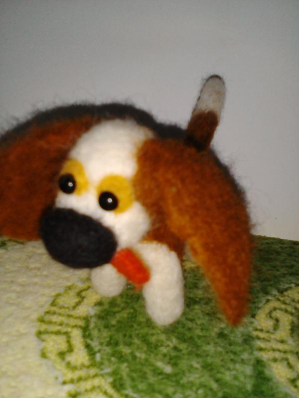 валяная собачка
