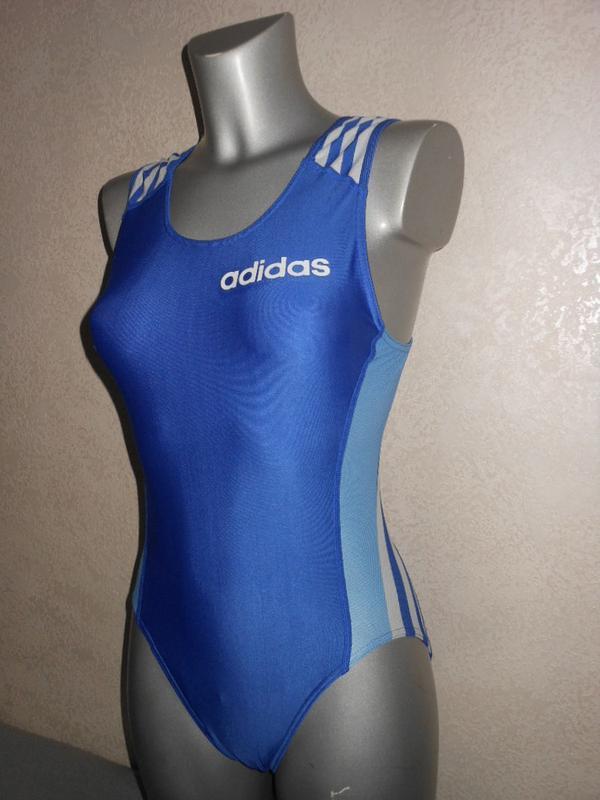12/м/40 adidas,оригинал!ярко синий купальник для плавания в ви...