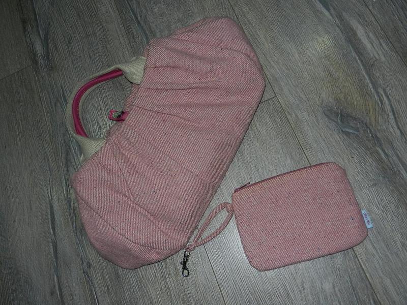 Ollie & nic розовая тканевая женская сумка саквояж розового цв...