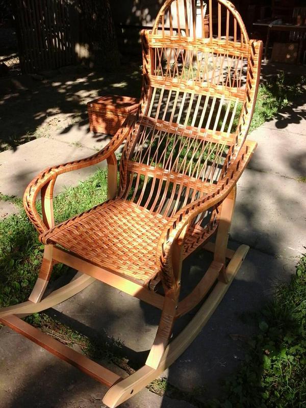 Кресло-качалка плетенное из лозы - Фото 2