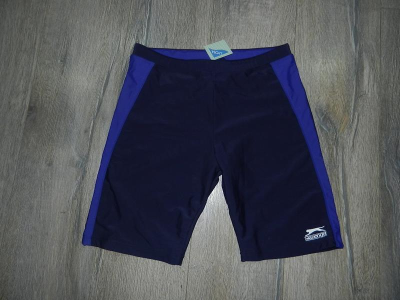 48/l*slazenger*оригинал!мужские темно синие шорты для плавания...