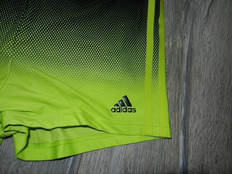 48/l adidas infinitex,оригинал!яркие салатовые плавки шорты,новые - Фото 2