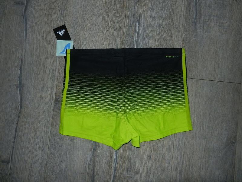 48/l adidas infinitex,оригинал!яркие салатовые плавки шорты,новые - Фото 6