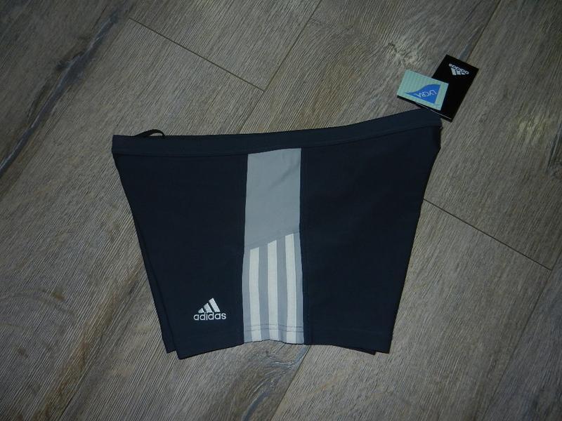 48/l adidas,оригинал серые плавки шортики для моря, для бассейна - Фото 2
