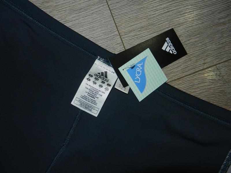 48/l adidas,оригинал серые плавки шортики для моря, для бассейна - Фото 6