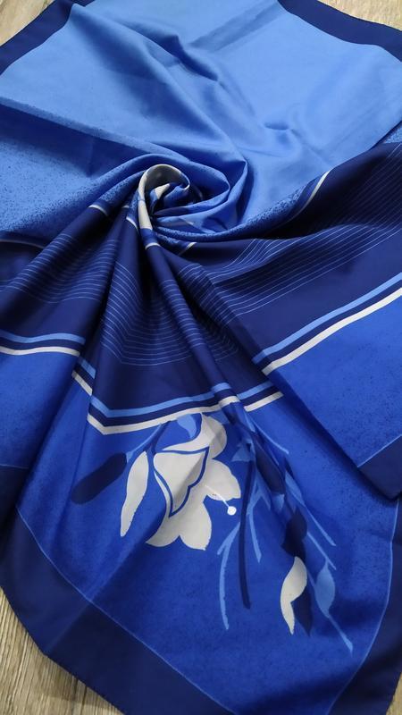 Италия! большой легкий синий платок