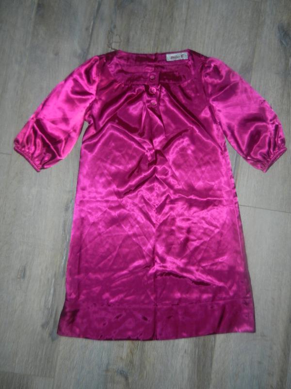 Cherokee,англия! малиновое платье туника атлас