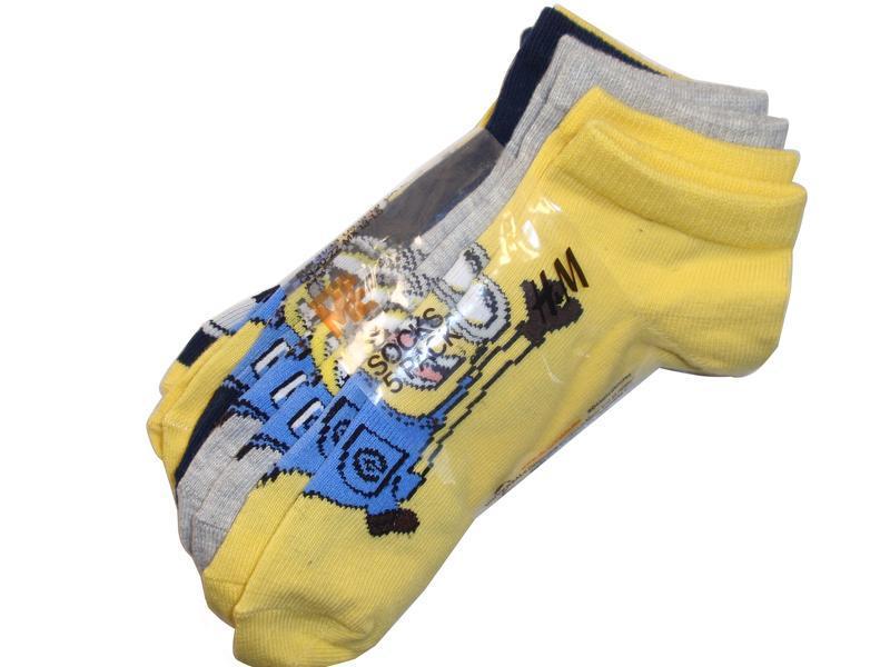 Классный набор носков 5 пар низкие носки детские миньоны minio...