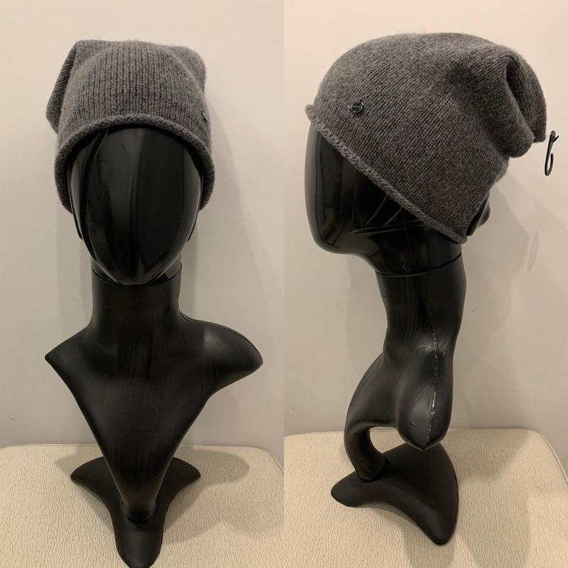 Серая шапка бини с кашемиром mohito есть размеры