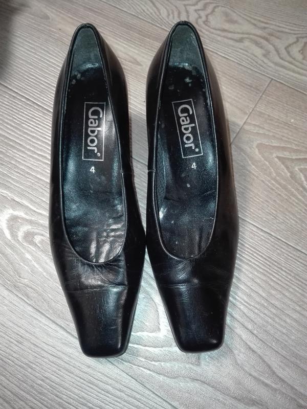 Очень удобные gabor кожаные классические туфли  натуральная кожа