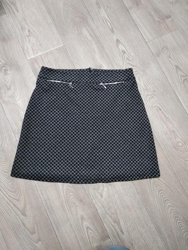 Крутая юбка трапеция с замочками и высокой посадкой