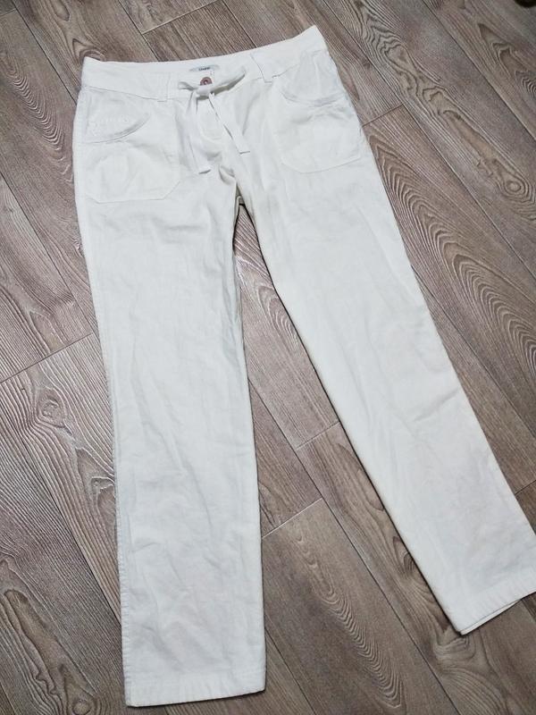 Льняные коттоновый брюки штаны летние лёгкие дышащие натуральные