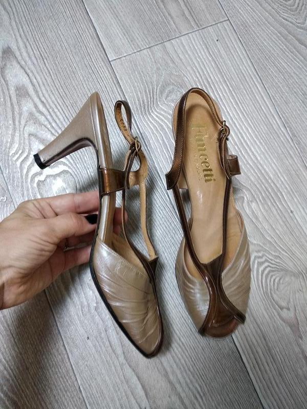 Винтажные босоножки туфли перламутровые