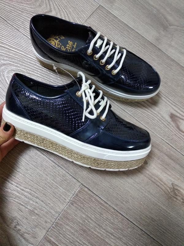 Крутые туфле кеды ботинки слипоны на толстой подошве платформе...