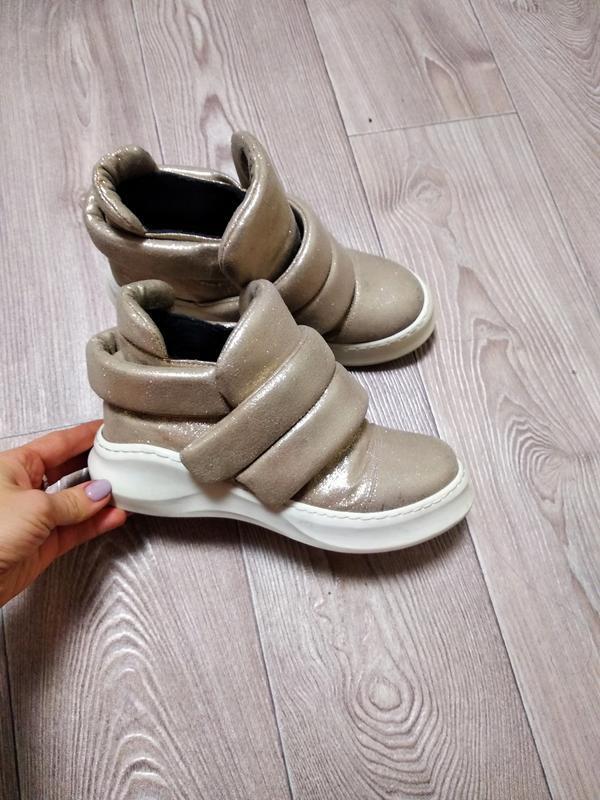 Кроссовки кеды высокие топсайдеры модные ботинки осенние демис...