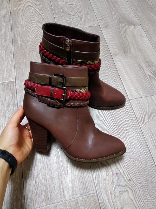 Осенние демисезонные сапоги ботинки полусапожки на устойчивом ...