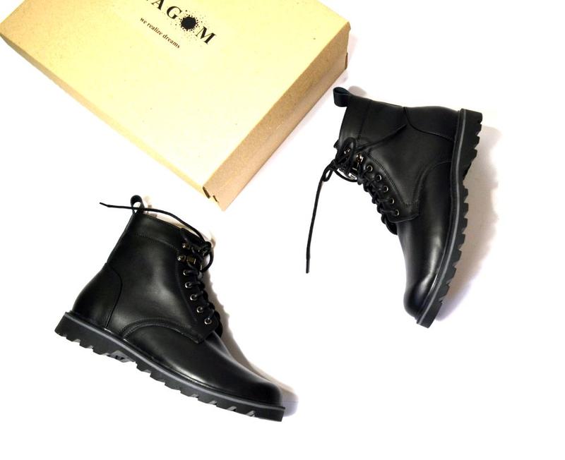 Мужские кожаные ботинки - Фото 7