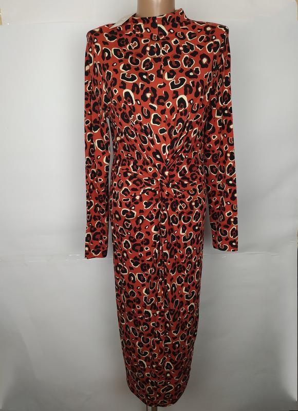 Платье новое модное в принт f&f uk 10/38/s