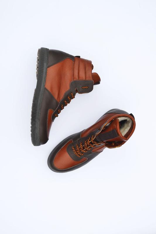 Мужские кожаные ботинки - Фото 4