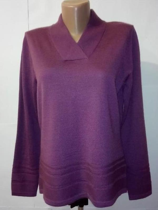 Фиолетовый шерстяной свитер джемпер uk 10/38/s