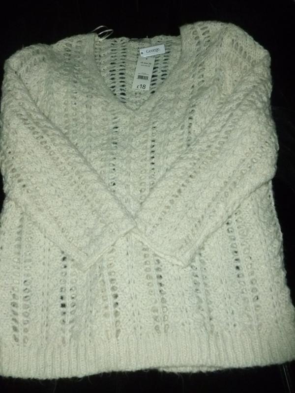 Ажурный свитер большого размера или oversize оверсайз объемный...