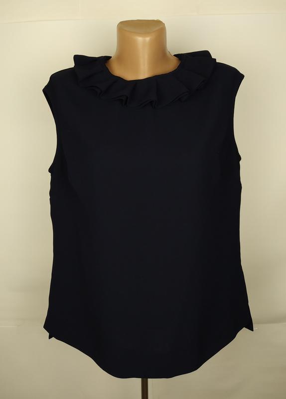 Блуза синяя шикарная оригинальная с рюшами ted baker размер 4 ...