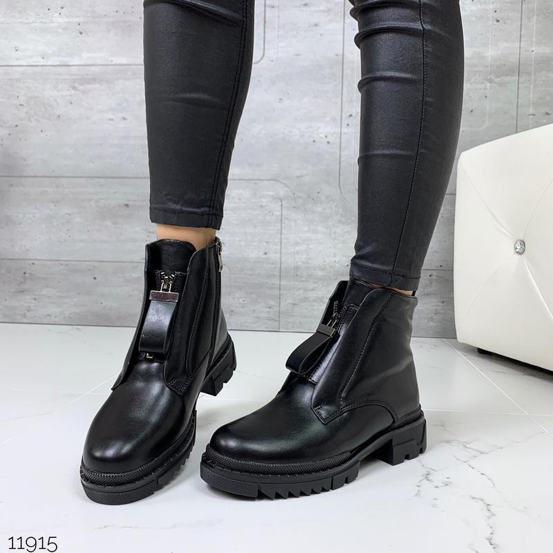 Акция💸 стильные зимние ботиночки черного цвета