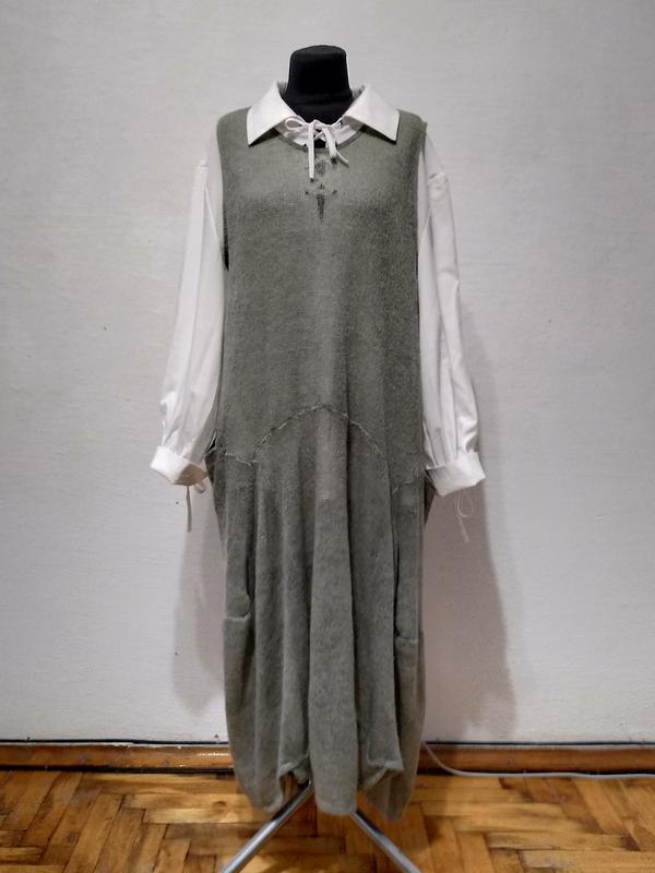 Стильное итальянское платье большого размера