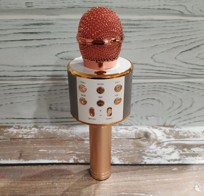 Bluetooth микрофон для караоке с изменением голоса