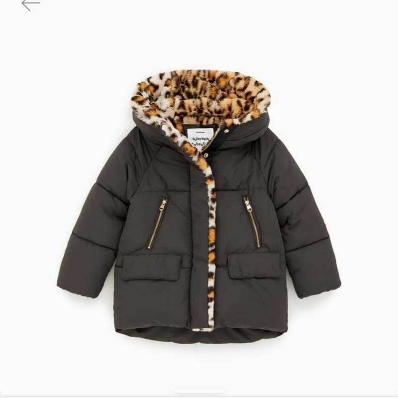 Очень теплая зимняя куртка zara 152 .164