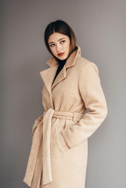 Зимнее пальто эко мех альпака
