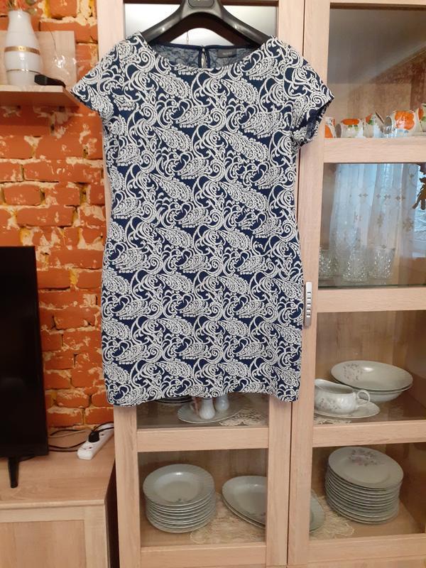 Милое котоновое платье большого размера