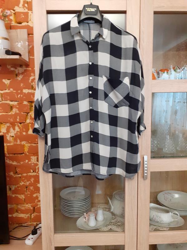 Крутая котоновая рубашка с 3/4 рукавами