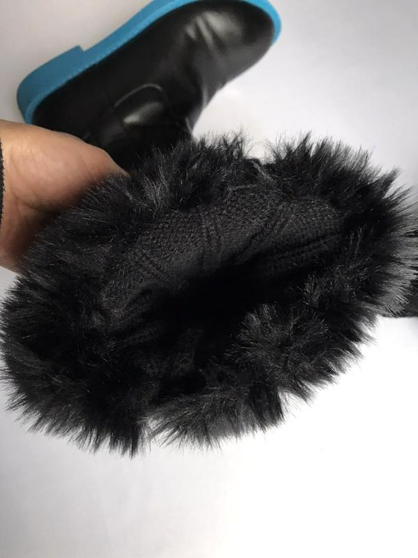 Меховая опушка на сапоги, съёмные манжеты, краги, one size, c&a. - Фото 3