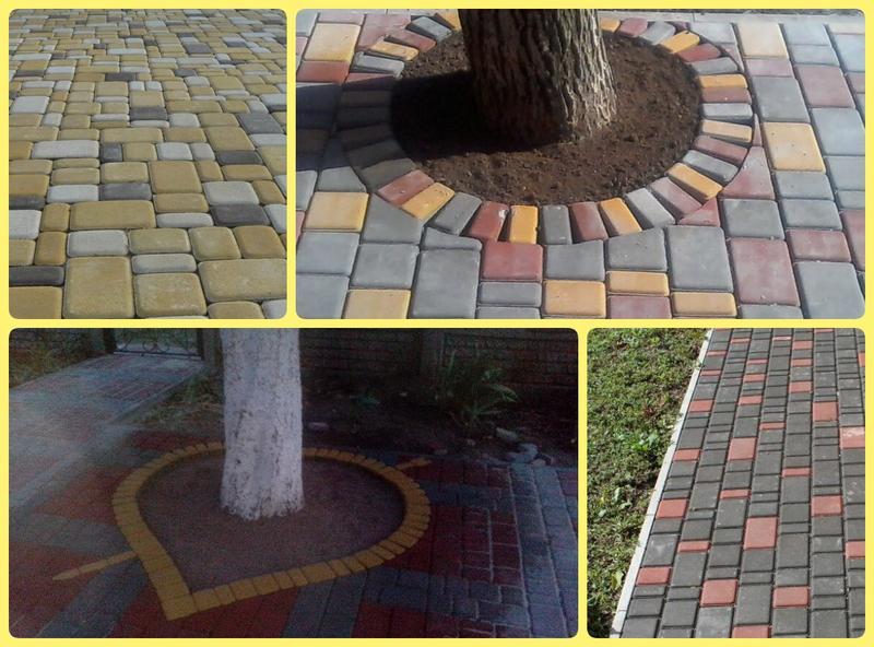 Тротуарная плитка «Старый город» собственное производство