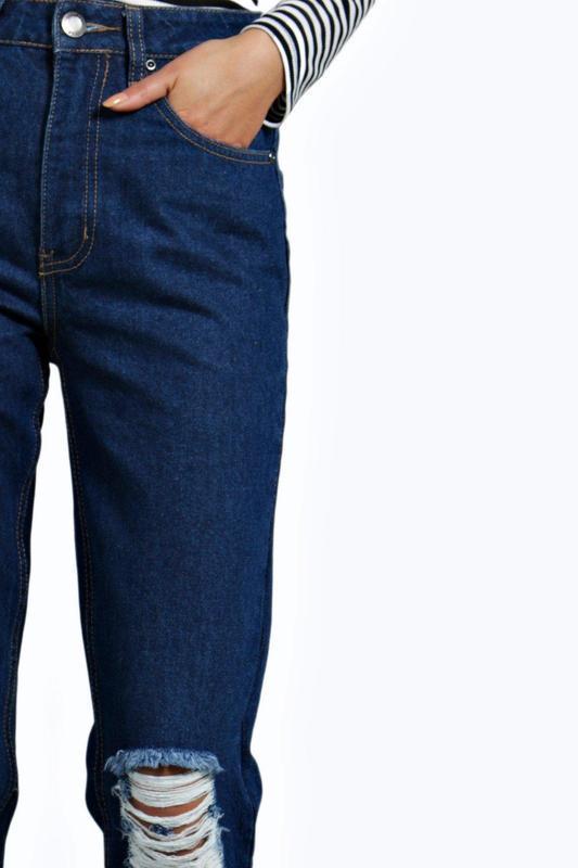 Стильные мом джинсы момы с высокой посадкой талией