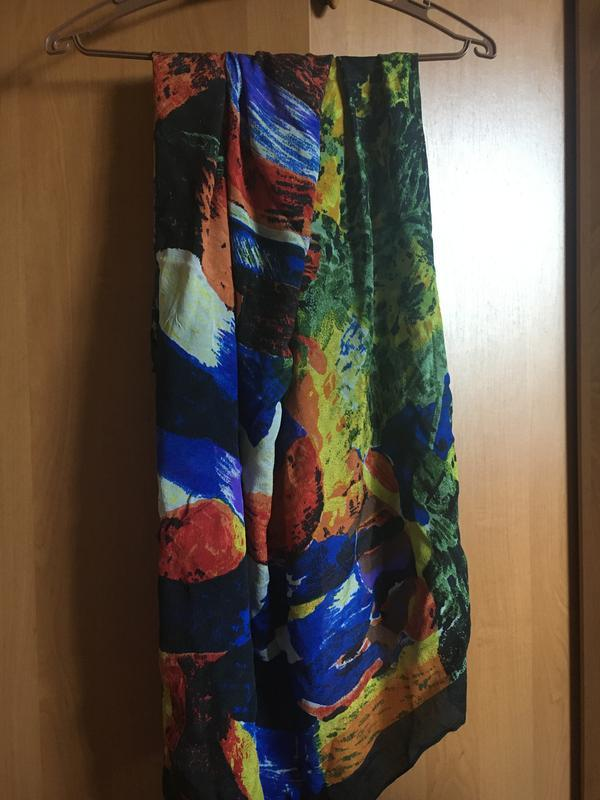 Шарф лёгкий разноцветный платок на шею, голову