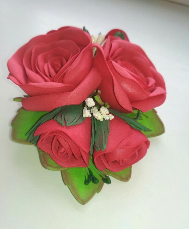 Заколка Розы - Фото 3