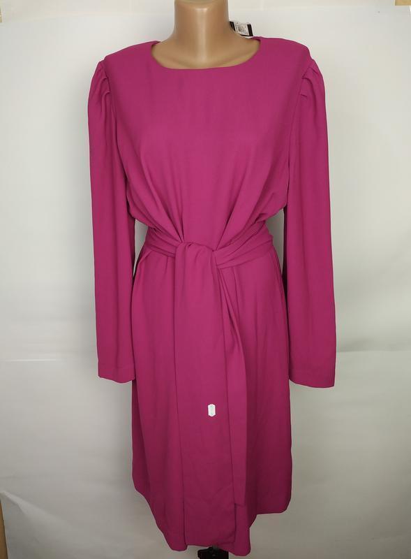 Платье новое шикарное под пояс большой размер цвета фуксия mar...