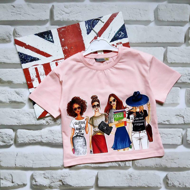 Розовые летние топы кроп топы футболки для девочек 10-12 лет