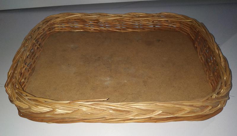 Б/у Плетеная корзина плетеный лоток 35 * 25 * 5 см