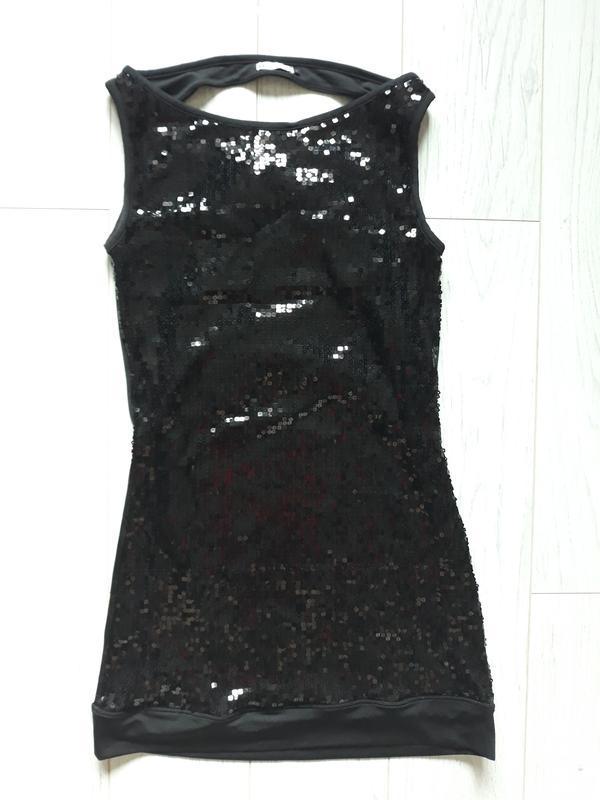 Платье мини, в пайетках